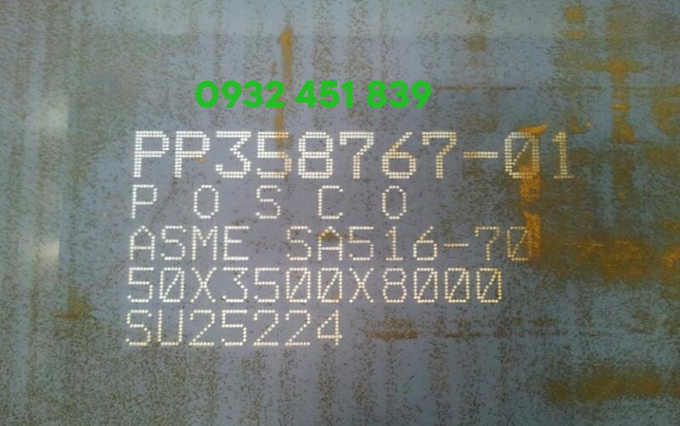 Thép tấm sa516