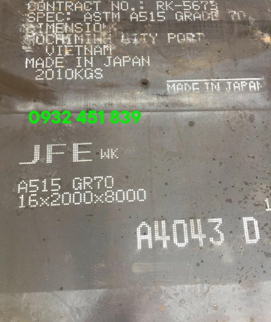 thép tấm chịu nhiet a515