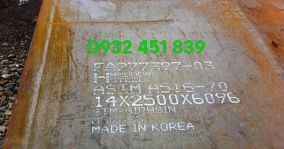 thép tấm a516 hyundai