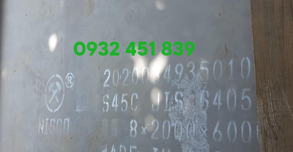 Bảng báo giá thép tấm s45c / sắt tấm c45 cường độ cao 2021